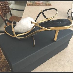 Strappy Gold sandal never worn